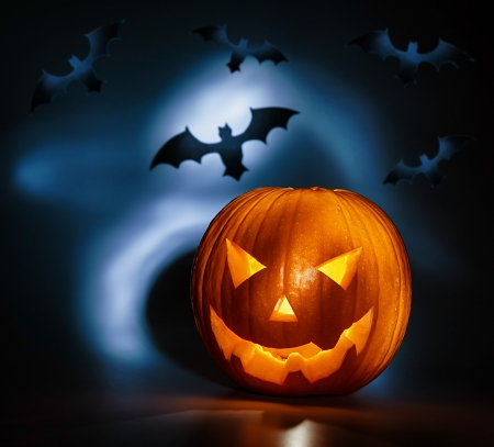 zucche halloween: Immagini di vacanza sfondo halloween Archivio Fotografico
