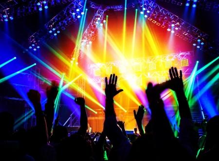 large rocks: Rock concert