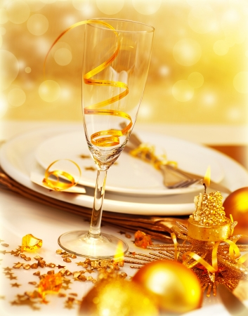 Picture of luxury festive table setting photo