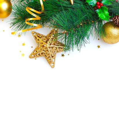 Image of Christmas tree border Stock Photo - 16632121