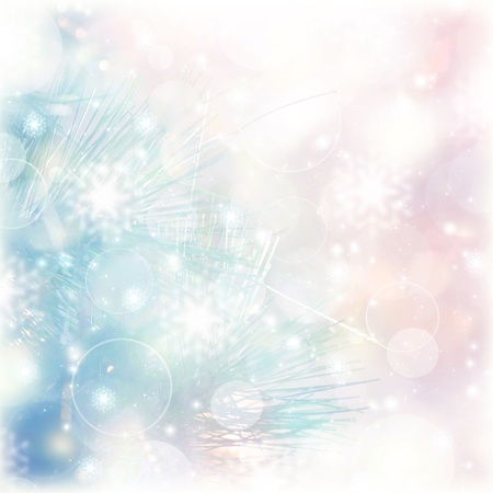 christmastime: Picture of abstract blur background, pink and blue blurred backdrop, wedding day, greeting postcard, romantic glowing Christmastime decorations, Christmas ornament, beautiful wallpaper