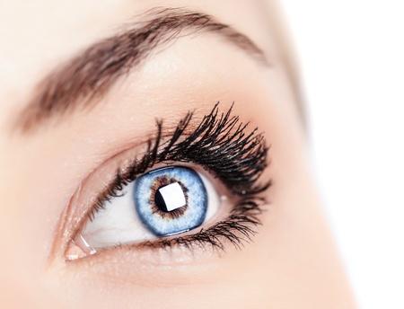 eye sight:  beautiful female blue eye