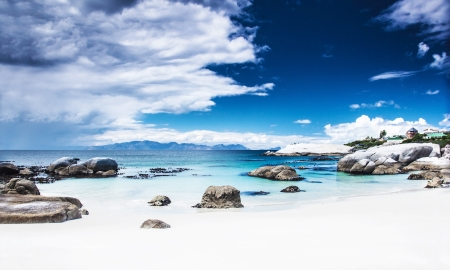 sunny south: Paradise beach landscape, peaceful relaxing seaview, stunnig nature scene, Nature Reserve near Cape Town, Western Cape, South Africa
