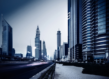 industry architecture: Dubai city downtown, UAE, luxury apartments, modern buildings, high skyscrapers, stylish design, arabian architecture, travel and tourism concept