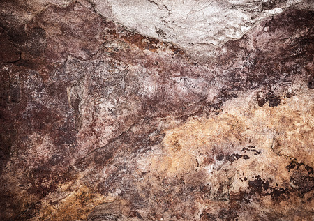 Abstract tile background, grunge brown stone texture, weathered granite, rusty seamless wallpaper, vintage surface of exterior decor  photo