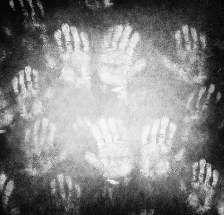identidad cultural: Huella de la mano del hombre