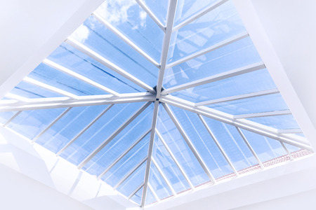 window pane: Glass roof modern interior design