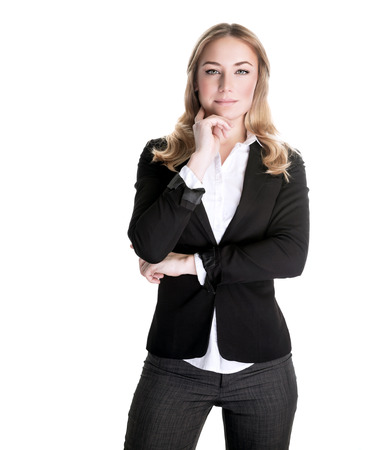 vp: Confident business woman isolated on white background