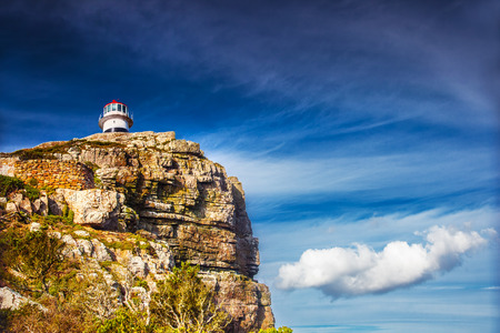 cape of good hope: Cape of Good Hope, lighthouse on the south -western point of Africa, travel and tourism concept