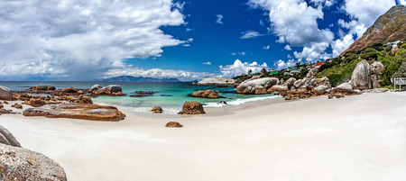 Boulders beach, Simons Town, travel to South Africa, beautiful seaview, panoramic landscape, summer vacation and tourism concept