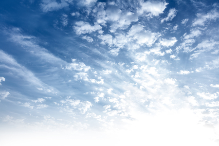 beautiful weather: Beautiful sky background, fluffy white clouds on the blue sky, peaceful sunny day, good weather, abstract natural backdrop