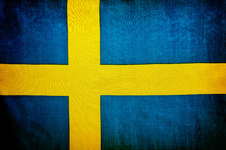 sweden flag: Swedish flag, national symbol, abstract grunge background, patriotic wallpaper