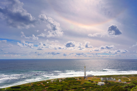 continente africano: South Africa landscape, beacon on the Cape of Good Hope, famous touristic place, beautiful panorama of Atlantic Ocean