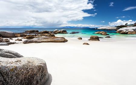 Mooie Boulders strandlandschap, panoramisch uitzicht, geweldige reislocatie, Siamon's Town, West-Kaap, Zuid-Afrika