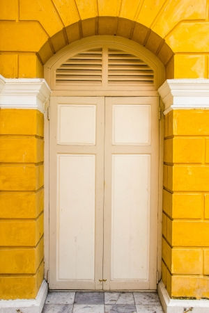 Front Door of a museum in Thai photo