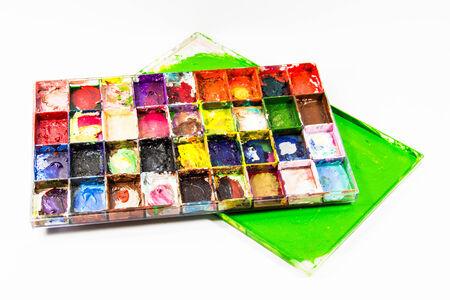 pallette: palette sur un fond blanc Banque d'images