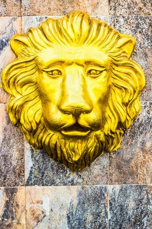 Golden Lions Head of Bangkok in Thai