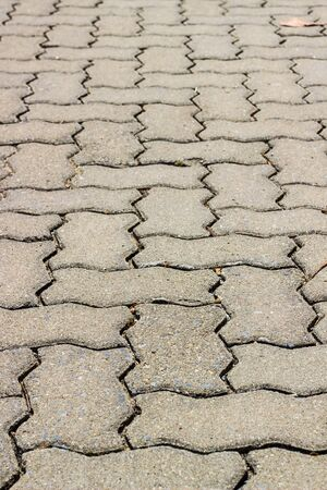 cobblestone pavement - fragment close up