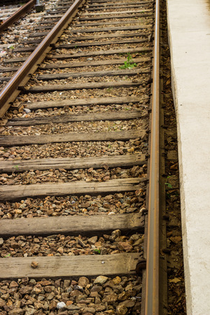 railway transportation: Railway or railroad tracks for train transportation
