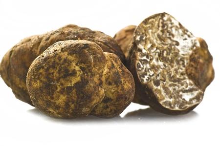 truffe blanche: truffe blanche sur le blanc.