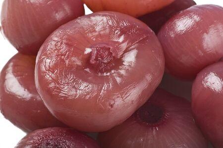 groupware: pepinillos cebolla borettane Foto de archivo