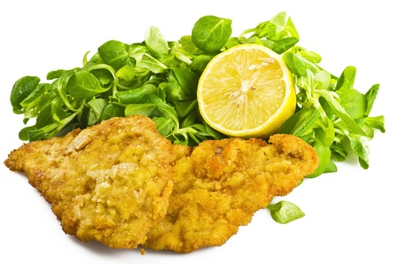 cutlet: cutlet of cow with salad