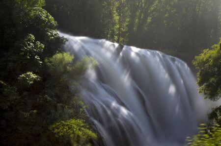 Landscape of cascade of Marmore Terni Umbria Italy photo