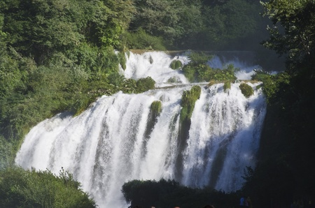 best protection: Landscape of cascade of Marmore Terni Umbria Italy
