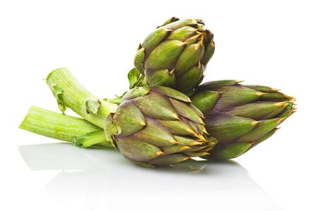 Artichoke on a white background Stock Photo
