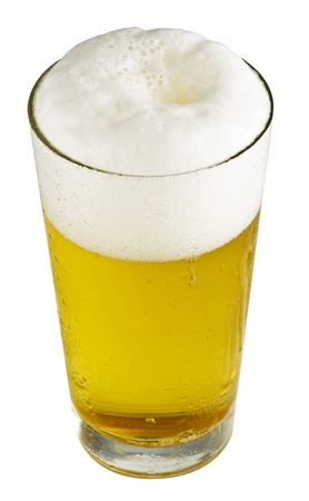beerglass: Beer-Objects on white background