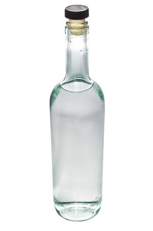 Bottle of liquor on white photo
