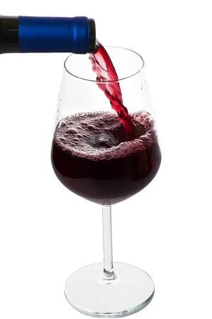 lambrusco: A glass of wine closeup Stock Photo