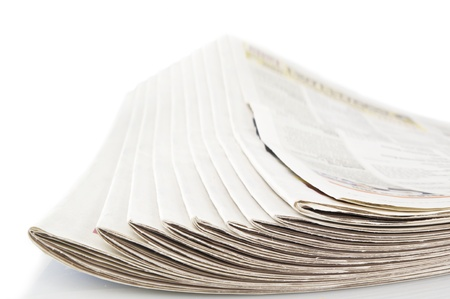 evening newspaper: newspapers isolated on a white background