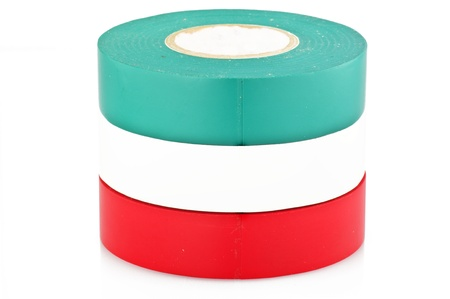 colored duct tape on the white photo