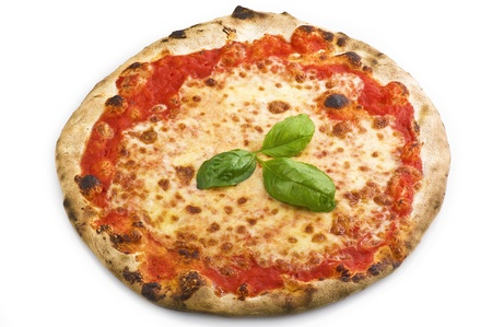 Italian pizza on the white background Stock Photo