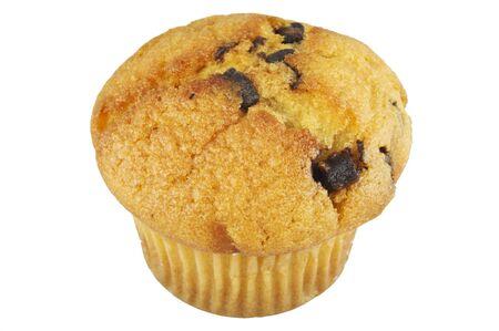 magdalenas: Muffin sobre el fondo blanco