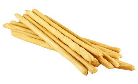 breadstick: bread sticks on white background