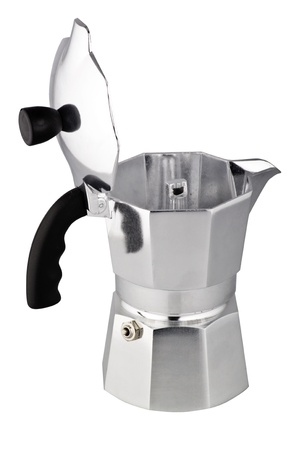 coffeepot on the white background photo