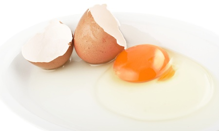 albumin: Raw egg tear into half with yolk and albumin