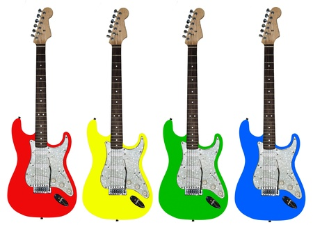 guitar pick: Electric guitar on the white