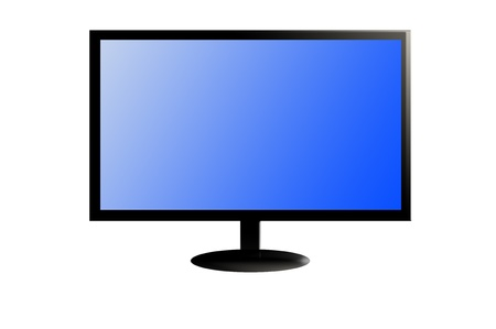 new television 3 D on white Stock Photo - 10599003