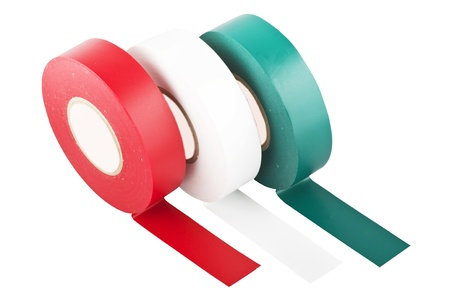 duct tape: colored duct tape on the white
