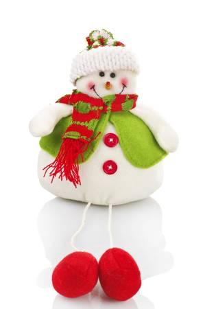 coronas navidenas: Mu�eco de nieve de t�teres en el blanco