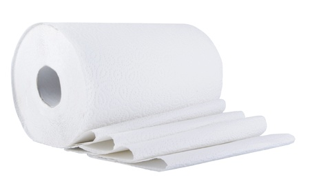 tissue paper: Paper roll  on the white