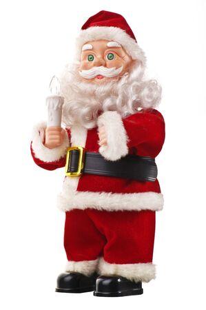 festoons: Santa Claus on the white