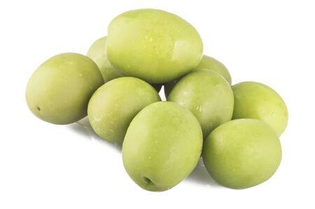 olives on the white background photo