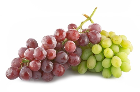 fruitful: fresh grapes with drops close up