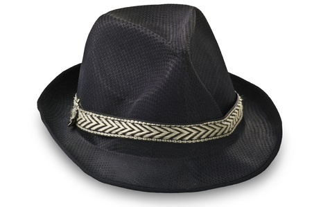 gangster background: Borsalino hat on the white Stock Photo