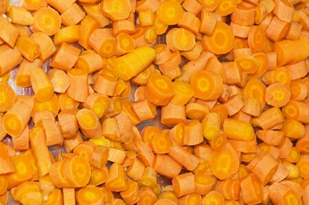 Carrots cooked texture close up photo