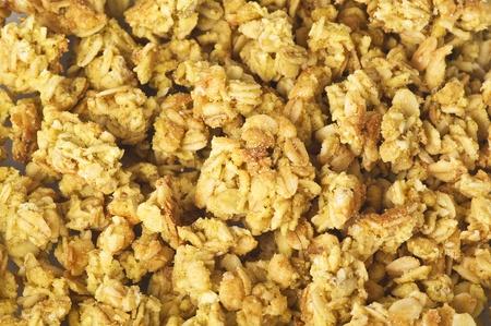 breackfast: cereal flakes breackfast close up